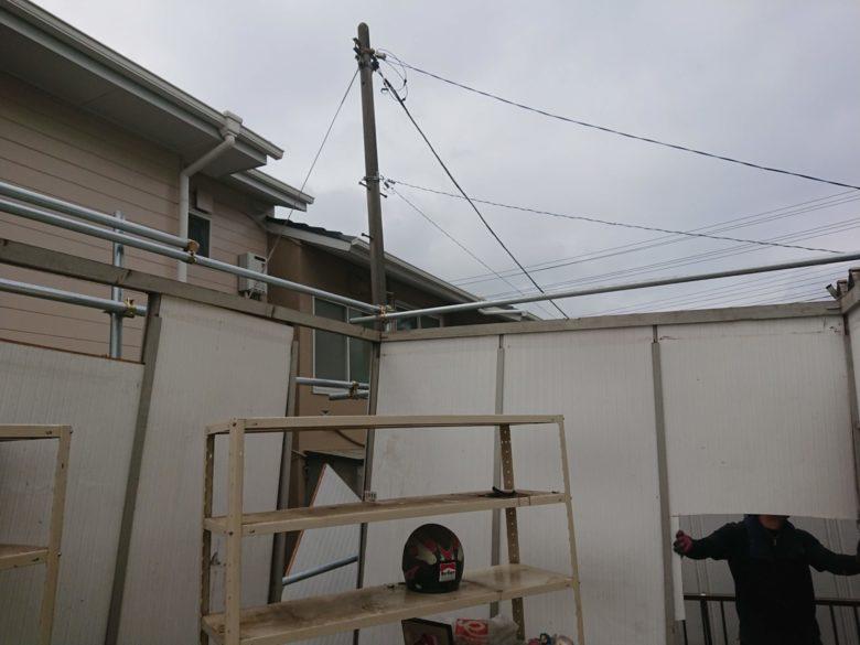 屋根解体終了