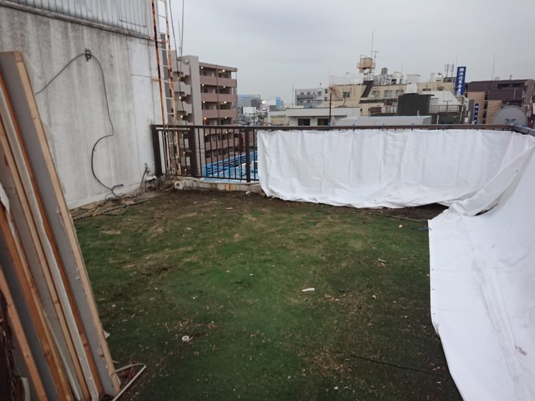 屋上のプレハブ解体終了