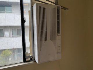 窓用エアコン 前