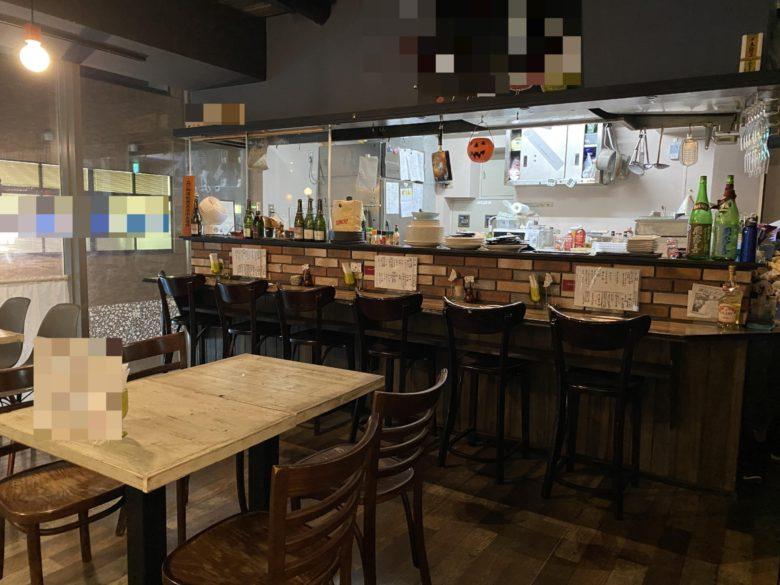 三鷹市 飲食店 スケルトン