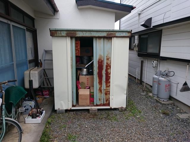 東京都あきる野市 物置 残置物