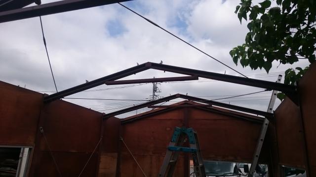 屋根の撤去完了