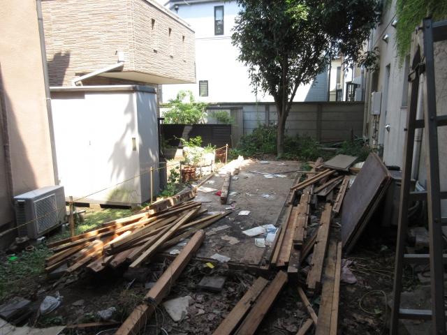 木製物置 床まで解体