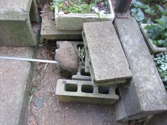 石やブロック処分