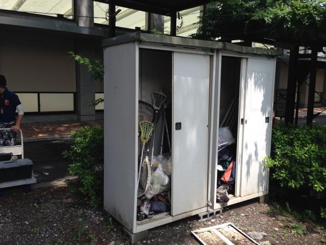 杉並区の大学の物置と残置物処分