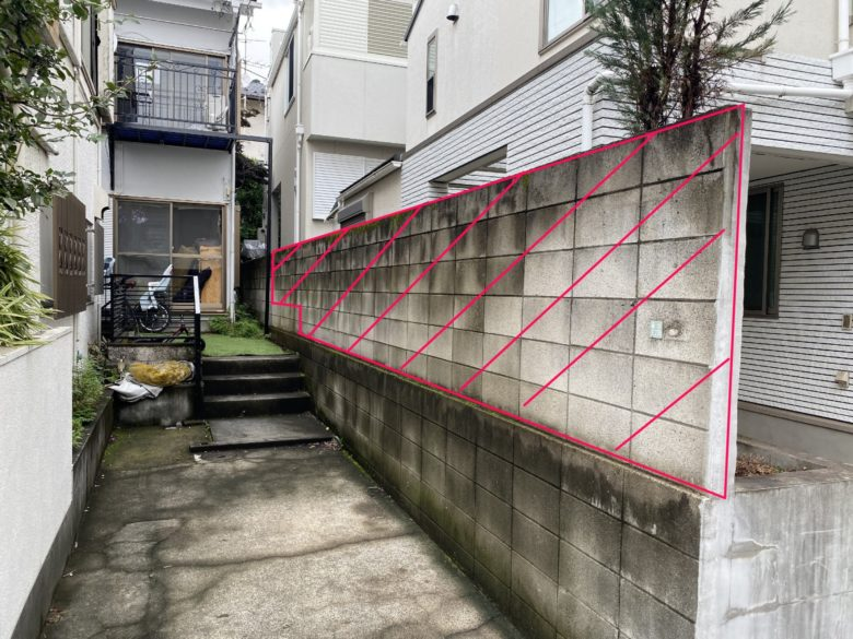 世田谷区 コンクリートブロック塀